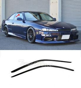 For 95-98 Nissan 240SX S14 DM Smoke Tinted Window Deflectors Visors Side Vents