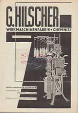 CHEMNITZ, Werbung 1932, G. Hilscher Wirkmaschinen-Fabrik Ideal-Rundstrick-Automa