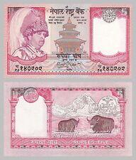 Nepal 5 Rupees 2005 p53a unz.