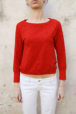 Nike Ladies Long Sleeved Red Casuals Top Stretch Authentic S Small 104-110 cm