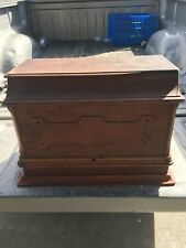 stunning Antique Wood Sewing Machine Cover - 19 1/2 L - 13 HIGH - 13 WIDE