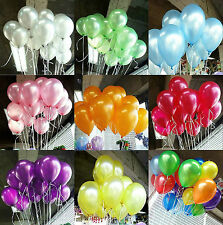 25.4cm METALLIC/Pearlised High Quality LATEX BALLOONS Decoration/Birthday/Party