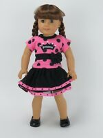 "Doll Clothes 18"" Skirt Pink Polka Dot Princess Fits American Girl Dolls"