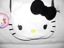 Hello Kitty White Face w/ Black Bow & Strap Purse Licensed Sanrio by F.A.B.