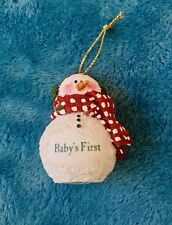 New Boyds Bears CHRISTMAS TREE ORNAMENTS Snowman BABY'S FIRST Newborn present