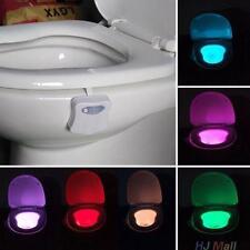 Auto HUman Motion Sensor Seat LED Light Toilets Bowl Change Color Bathroom