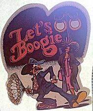Vintage Vintage Let's Boogie Day Glo Iron On Transfer