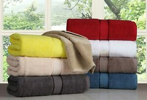 SPA - Hotel Collection 100% Cotton Bath Towels Soft 600 GSM 6 Pack Set - Brown