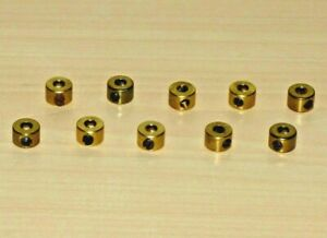 10 x Meccano part number 59 collar in excellent condition with grub screws