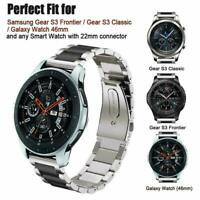 For Samsung Galaxy Watch 46mm Stainless Steel Strap Watch Replacement Bracelet