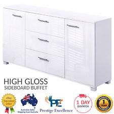 White Sideboard Buffet Furniture High Gloss Storage Cabinet Cupboard with Drawer