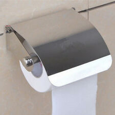 Stainless Steel Toilet Paper Holder Wall Mounted Bathroom Roll Tissue Box Shelf