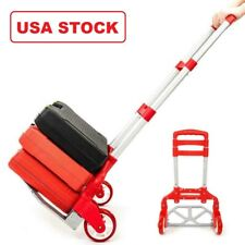 RED Folding Hand Truck Aluminum Portable Hand Cart 165lbs Home, Auto, Luggage US