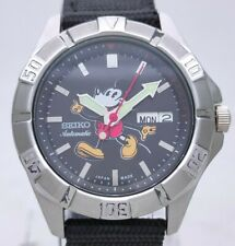 Vintage Seiko 5 Japan 7S26 Automatic MickeyMouse Dial See Through Back Men Watch