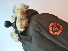 SUPERDRY Rescue Black Down Coat Jacket Insulated Hood Sz. Large 100% Nylon