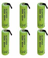 Batterie Ricaricabili Ni - MH AAA 1,2V 800mAh - T. a Saldare (Confezione da 6)