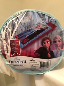 Disney Frozen II Sleeping Bag (Exxel Outdoors) Ages 4+ Brand New 28X56 Inches
