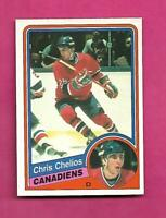 1984-85 OPC # 259 CANADIENS CHRIS CHELIOS  ROOKIE NRMT+ CARD (INV# D2808)