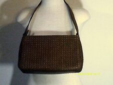 """FOSSIL Women's Med. Brown Faux Leather Woven  Handbag  11.5x7x3""""# 75082 - China"""