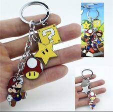 New! Super Mario Bros Nintendo Nes Keychain Mario Mushroom Star