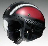 Shoei J.O. Hawker TC1 Open Face Retro Style Motorcycle Motorbike Helmet