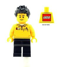 LEGO Male Shop Worker Minifigure NEW