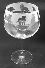 More details for bernese mountain dog frieze boxed 70cl glass gin balloon