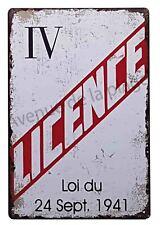 """Plaque vintage """"Licence IV"""" pancarte métal décoration de bar NEUF"""