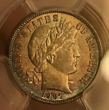 1907-s Barber  Dime  scarce date , Pcgs Ms62