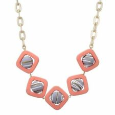 Cute Candy Color Square Resin Necklace Balls Pendants Handmade Bead Statement