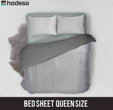 Hodeso Bedsheet Geometrical Pattern Queen Size With FREE Two Pillow Case (Blue)