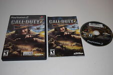 Call of Duty 2 Big Red One Sony Playstation 2 PS2 Video Game Complete