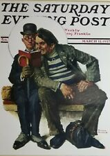 "Norman Rockwell Vintage Poster Print 17"" x 22"" 1927 plot thickens V"