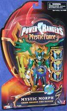 "Power Rangers Mystic Force Green Dragon Fire 5"" Ranger New Factory Sealed 2006"