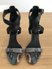 As New Wittner Leather Snakeskin Heels - Size 40 - RRP$189.95