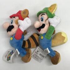 "2X New Super Mario Bros. Plush Raccoon Mario Luigi Soft Toy Doll Teddy 10"""