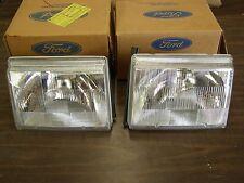 NOS OEM Ford 1988 1989 Merkur Scorpio Headlights Headlamp Pair Head Light Lamps