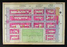 1921 New York City Map Manhattan Harlem Mount Morris Park Avenue 125th Street