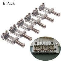 Metal Guitar Saddles Bridge Tremolo String Spacing for Stratocaster Telecaster