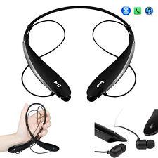 Black Bluetooth Headset Stereo Headphones Earphones with Mic or iPhone Samsung