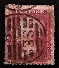 GB QV Penny Red  1858-79 1d  Letters DJ   PR248  Free Registered Mail