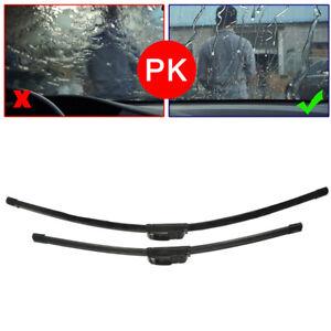 "24"" & 18"" Pair Bracketless Car Window Windshield Wiper Blades Universal J-Hook"