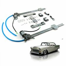1953-60 GM A-body 2-Door One Touch Flat Glass Electric Power Window Kit Bel Air