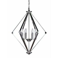 Forte Lighting 6 Light Chandelier, Brushed Nickel - 7062-06-55