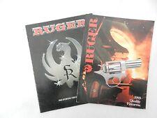 2 catalogues Ruger 1986 et 1989 - firearms - revolver pistolet fusil carabine