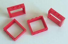 4 x rosso treno telaio finestra 1 x 4 x 3 Borchie 06 LEGO