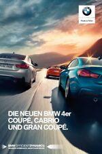 2017 MY BMW 4 Coupe Cabrio catalogue brochure German int'l 44 p.