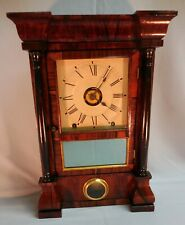 Seth Thomas Miniature Column & Cornice Rosewood Mantel/Shelf Clock