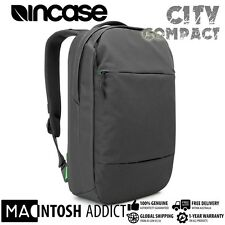 "Incase City Compact Premium Stylish Backpack Bag For 15"" MacBook Laptop BLACK"