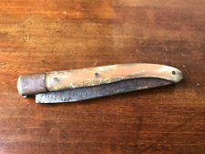 Couteau Ancien Corne de Bovin Antique Knife French